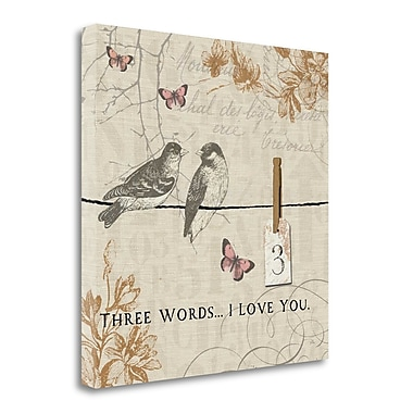 Tangletown Fine Art 'Words that Count III' by Pela Painting Print on Wrapped Canvas; 24'' H x 24'' W