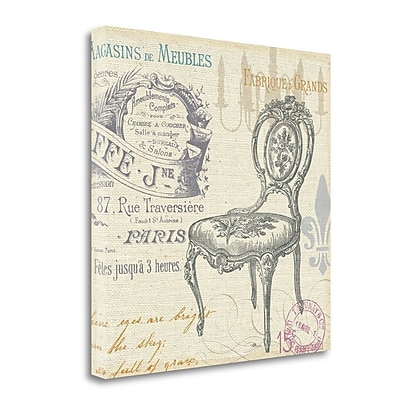 Tangletown Fine Art 'Victorian Vintage II' by Pela Studio Graphic Art on Wrapped Canvas