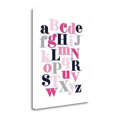 Tangletown Fine Art 'ABC' Textual Art on Wrapped Canvas; 40'' H x 32'' W