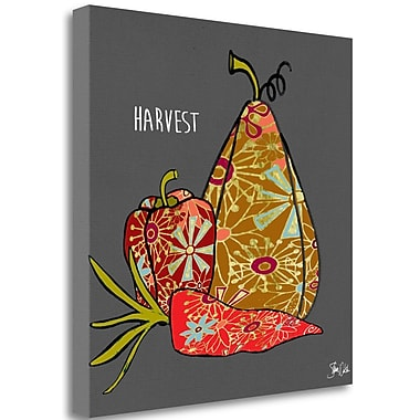 Tangletown Fine Art 'Harvest Veggies' Graphic Art Print on Canvas; 18'' H x 18'' W