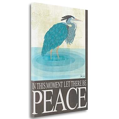 Tangletown Fine Art 'Heron Peace' Graphic Art Print on Canvas; 48'' H x 34'' W