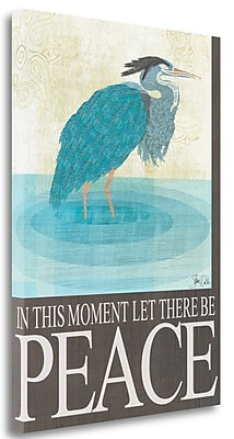 Tangletown Fine Art 'Heron Peace' Graphic Art Print on Canvas; 24'' H x 17'' W