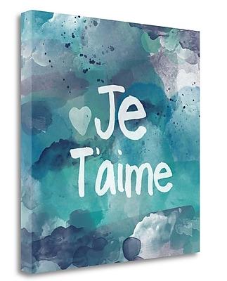Tangletown Fine Art 'Je Taime' Textual Art on Canvas; 20'' H x 20'' W