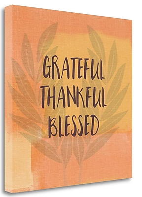 Tangletown Fine Art Grateful Thankful Blessed' Textual Art on Canvas; 24'' H x 24'' W