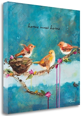 Tangletown Fine Art 'Home Tweet Home' Print on Canvas; 29'' H x 29'' W