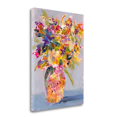 Tangletown Fine Art Lavender Vase' Print on Canvas; 34'' H x 25'' W