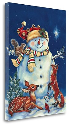 Tangletown Fine Art 'Jolly Snowman' Print on Wrapped Canvas; 23'' H x 17'' W