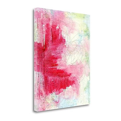 Tangletown Fine Art Watermelon Seeds Abstract' Graphic Art Print on Canvas; 37'' H x 28'' W