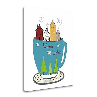 Tangletown Fine Art 'Warm Wishes in a Cup' Graphic Art Print on Wrapped Canvas; 29'' H x 25'' W