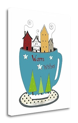 Tangletown Fine Art 'Warm Wishes in a Cup' Graphic Art Print on Wrapped Canvas; 33'' H x 28'' W
