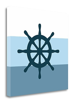 Tangletown Fine Art 'Wheel' Graphic Art Print on Wrapped Canvas; 20'' H x 20'' W
