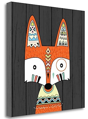 Tangletown Fine Art 'Tribal Fox' Graphic Art Print on Canvas; 26'' H x 26'' W