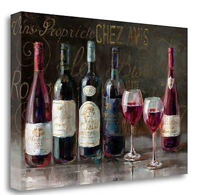 Tangletown Fine Art 'Bistro Reds v.2' Print on Wrapped Canvas; 23'' H x 34'' W