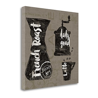 Tangletown Fine Art Linen Coffee IV' Graphic Art Print on Wrapped Canvas; 29'' H x 29'' W
