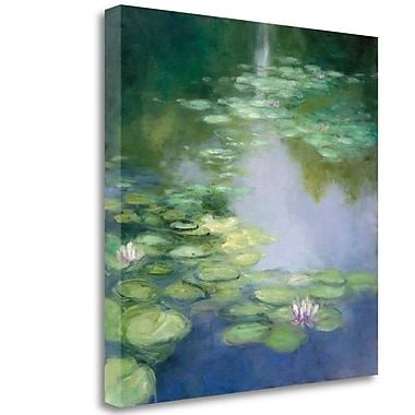 Tangletown Fine Art 'Blue Lily I' Print on Wrapped Canvas; 20'' H x 20'' W