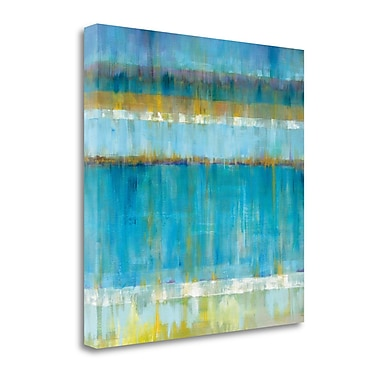 Tangletown Fine Art 'Abstract Stripes' Print on Canvas; 35'' H x 35'' W