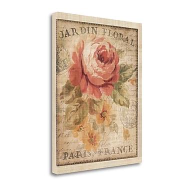 Tangletown Fine Art 'Parisian Flowers II' Graphic Art Print on Wrapped Canvas; 28'' H x 23'' W