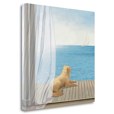 Tangletown Fine Art 'Blue Breeze II' Print on Wrapped Canvas; 18'' H x 18'' W