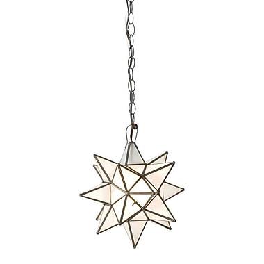 WorldsAway Star 1-Light Geometric Pendant; 15'' H x 15'' W x 15'' D