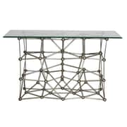 WorldsAway Iron Console Table; Silver