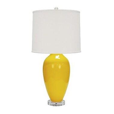 WorldsAway Urn Style Ceramic 31'' Table Lamp; Yellow