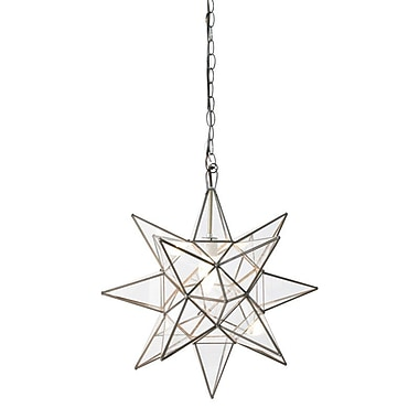 WorldsAway Star 1-Light Foyer Pendant; 12'' H x 12'' W x 12'' D
