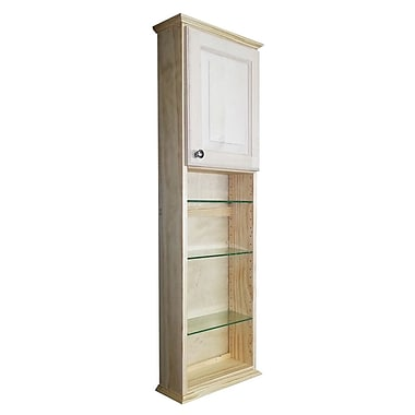 WG Wood Products Ashley Series 15.25'' x 49.5'' Surface Mount Medicine Cabinet