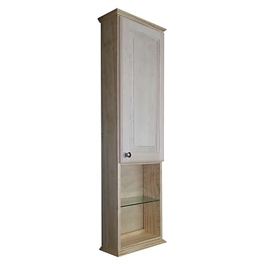 WG Wood Products Shaker Series 15.25'' x 43.5'' Surface Mount Medicine Cabinet