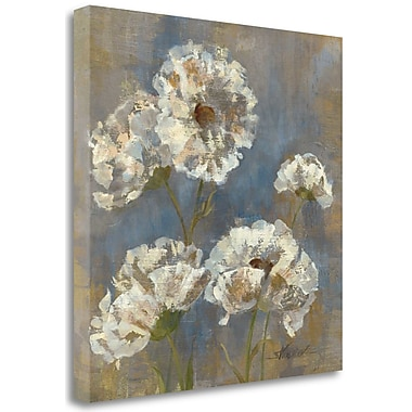 Tangletown Fine Art 'Flowers in Morning Dew I' Print on Wrapped Canvas; 20'' H x 20'' W