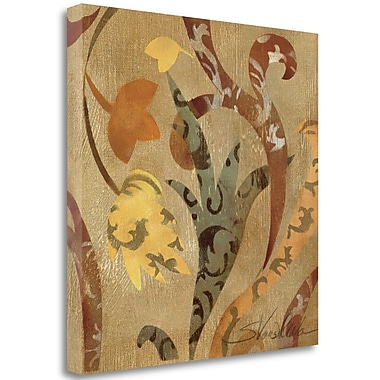 Tangletown Fine Art 'Floral Fragment IV Wag' Graphic Art Print on Wrapped Canvas; 20'' H x 20'' W