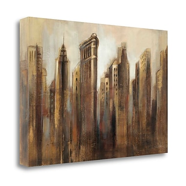 Tangletown Fine Art 'Flatiron Skyline' Print on Wrapped Canvas; 20'' H x 29'' W