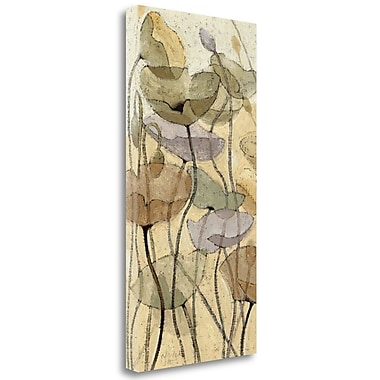 Tangletown Fine Art 'Fluidity II' by Shirley Novak Painting Print on Wrapped Canvas; 34'' H x 17'' W
