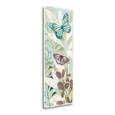 Tangletown Fine Art 'Fluttering Panel II' by Wild Apple Portfolio Graphic Art on Wrapped Canvas