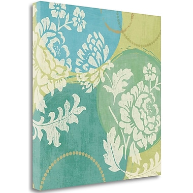 Tangletown Fine Art 'Floral Decal Turquoise II' Graphic Art Print on Canvas; 35'' H x 35'' W