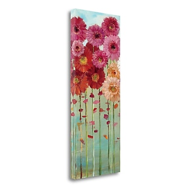 Tangletown Fine Art 'Daisies Spring II' Print on Wrapped Canvas; 32'' H x 13'' W