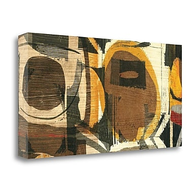Tangletown Fine Art 'Graphic Abstract I' by Wild Apple Portfolio Painting Print on Wrapped Canvas