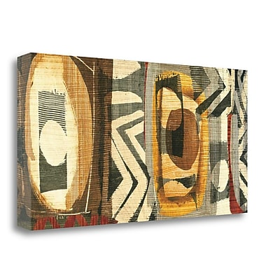 Tangletown Fine Art 'Graphic Abstract II' by Wild Apple Portfolio Painting Print on Wrapped Canvas