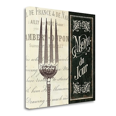 Tangletown Fine Art 'French Menu II' by Pela Studio Vintage Advertisement on Wrapped Canvas