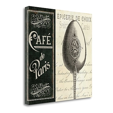 Tangletown Fine Art 'French Menu I' Vintage Advertisement on Wrapped Canvas; 24'' H x 24'' W