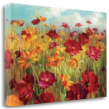 Tangletown Fine Art 'Cosmos in the Field' Print on Wrapped Canvas; 23'' H x 34'' W