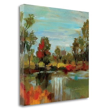 Tangletown Fine Art 'Hidden Pond Hues I' Print on Wrapped Canvas; 24'' H x 24'' W