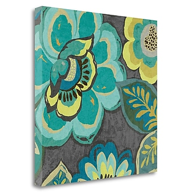 Tangletown Fine Art 'Floral Assortment I' by Wild Apple Portfolio Painting Print on Wrapped Canvas