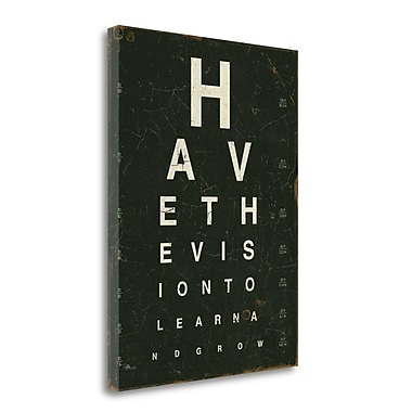 Tangletown Fine Art 'Eye Chart IV' by Pela Studio Textual Art on Wrapped Canvas; 23'' H x 17'' W