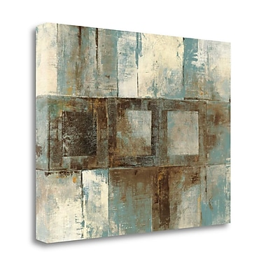 Tangletown Fine Art 'Euclid Ave Variations Blue and Brown' Print on Wrapped Canvas; 35'' H x 45'' W