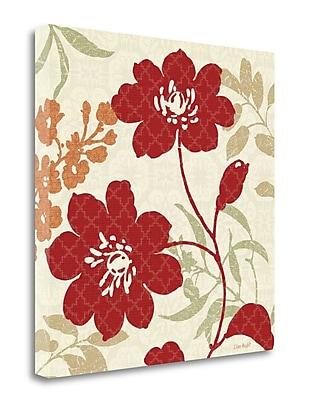 Tangletown Fine Art 'Floral Shadows II' Graphic Art Print on Canvas; 25'' H x 25'' W