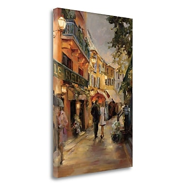 Tangletown Fine Art 'Evening in Paris' Print on Wrapped Canvas; 29'' H x 20'' W