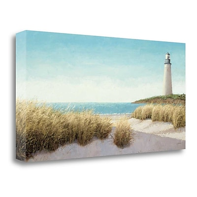 Tangletown Fine Art Lighthouse by the Sea' Print on Wrapped Canvas; 15'' H x 29'' W