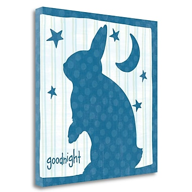 Tangletown Fine Art 'Le Lapin II' Graphic Art Print on Wrapped Canvas; 24'' H x 24'' W
