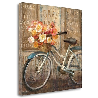 Tangletown Fine Art 'Meet Me at Le Cafe II' by Danhui Nai Painting Print on Wrapped Canvas