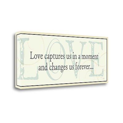 Tangletown Fine Art Love Captures Us' Textual Art on Wrapped Canvas; 12'' H x 28'' W
